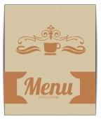 Ilustración de menú sobre fondo de color — Vector de stock