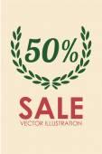 Sales illustration over color background — 图库矢量图片