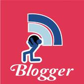 Blogger, holding human — ストックベクタ