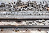 Repairing of Paved Road and Tramway — Zdjęcie stockowe