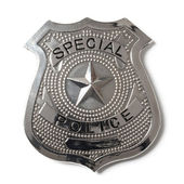 Police Badge with Clipping Path - Stock Photo — Stock Photo