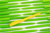 özel tertipçi ve izole kalem — Foto de Stock