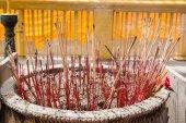 Incensi in un tempio buddista — Foto Stock