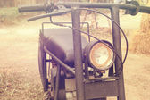 Vintage style of motorcycle in cofee shop show - retro filter ef — Stock Photo