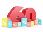 3D rendering of a 60 percent discount — Stock Photo