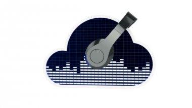 Cloud music concept — Stock Video