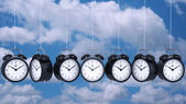 Clock alarm 3D. Time concept. — Stock Photo