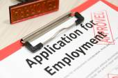 Approved job application form — Stock Photo