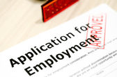 Application for Employment and stamp — Stock Photo