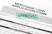 Mortgage loan application form — Stock Photo