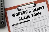 Worker's Injury Claim Form — Stock Photo
