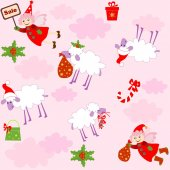 Funny xmas wallpaper — Vector de stock
