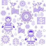 Winter print with Eskimo — Stock Vector #56996677