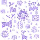 Wallpaper with stylized winter blue print — Stock Vector