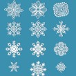 Collection of handmade paper snowflakes — Vector de stock  #59174995