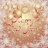 New Year's golden background — Stok Vektör