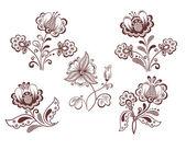 Retro květiny — Stock vektor