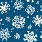 Wrapper with paper snowflakes — Stock vektor