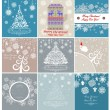 Christmas retro greeting cards — Stock Vector #59283187