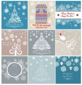 Christmas retro greeting cards — Stock Vector