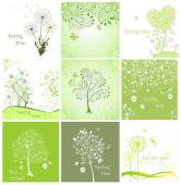 Spring decorative cards — Stock Vector