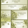 Business cards with olive floral design — Stock Vector #60995163