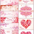Set of horizontal banner for Valentines day — Stock Vector #60995177