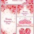 Templates for Valentines day — Stock Vector #60995201