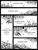 Floral templates (black and whites) — Stock Vector