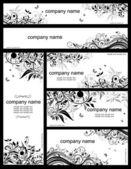 Floral templates (black and whites) — 图库矢量图片