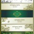 Horizontal banners with vintage floral design — Stock Vector #62192607