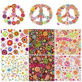 Hippie symbolic design — Stock Vector