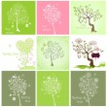 Spring decorative trees — Stock Vector #65163569