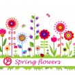 Spring flowers. Seamless border — Stock Vector #67376157