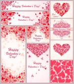 Greeting templates for Valentines day — 图库矢量图片
