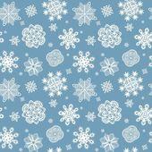 Зимняя синий оболочки с красивые бумажные снежинки — Cтоковый вектор
