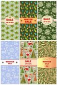 Labels for christmas sale — Stock Vector