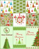 Collection of christmas card and wallpapers — Stock Vector