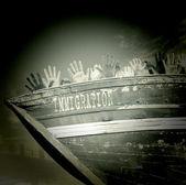 Clandestine boat — Stock Photo
