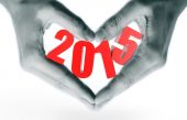 New year 2015 on the hand — Stock Photo
