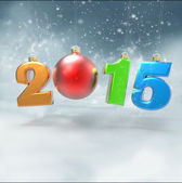 New year 2015 with Christmas ball — Stock Photo