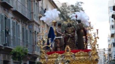Semana Santa Holy Week in Malaga,Spain — Stock Video