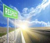 Road sign respect — Stock Photo