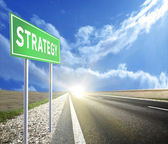 Strategy Green Road — Stock Photo