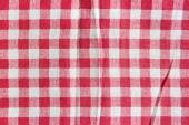 Texture of a red and white checkered picnic blanket. — Stock Photo