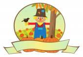 Scarecrow Banner — Stock Vector