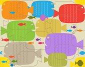 Fish Pattern — 图库矢量图片