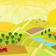 Rural Landscape — Stock Vector #60465771