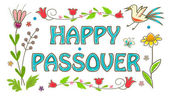 Colorful Passover Sign — 图库矢量图片