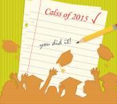 Class of 2015 — Cтоковый вектор